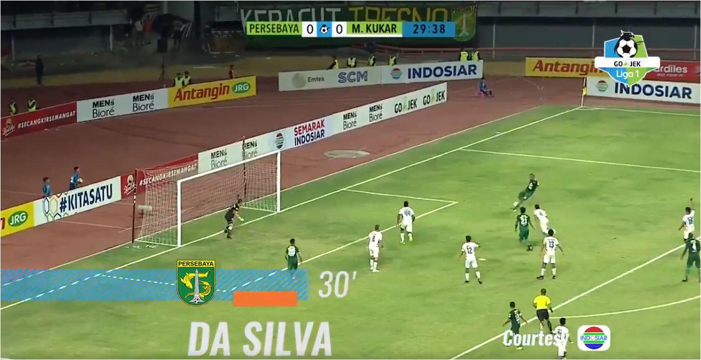 Gol Pertama David da Silva, Persebaya