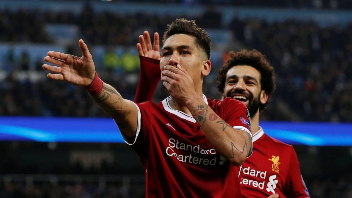 Roberto Firmino dan Mohamed Salah, Liverpool