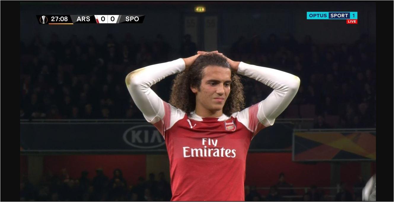 Matteo Guendouzi, Arsenal vs Sporting CP, Liga Europa