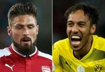 Arsenal bersedia berikan Olivier Giroud demi memboyong Pierre-Emerick Aubameyang di bulan ini.