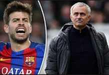 Gerard Pique tak senang dengan pendekatan Jose Mourinho pada pemain Barcelona, Samuel Umtiti, dan peringatkan pelatih asal Portugal itu bahwa Umtiti bahagia di Camp Nou.