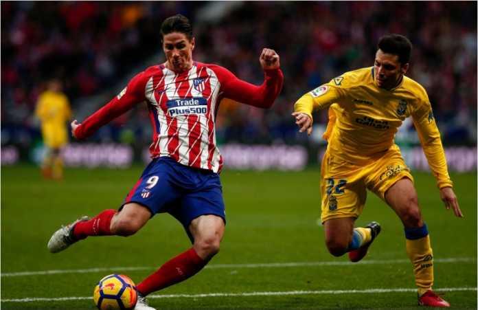 Fernando Torres mencetak gol kedua bagi Atletico Madrid dalam laga Liga Spanyol menjamu Las Palmas, Minggu malam, 28 Januari 2018.