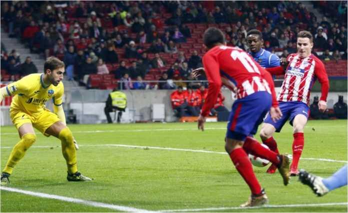 Atletico Madrid memperdaya kiper dan para pemain Lleida Esportiu yang kurang bersemangat pada leg kedua babak 16 besar Copa del Rey, Rabu dinihari