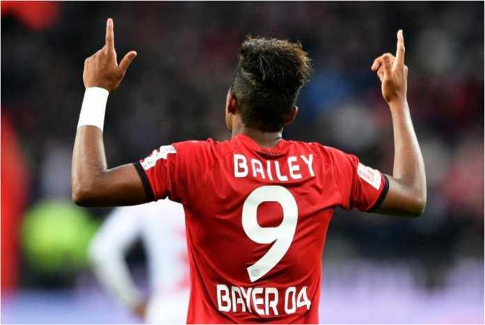 Leon Bailey adalah pencetak gol pertama Bayer Levekusen saat menjamu Mainz dalam laga Liga Jerman, Minggu 28 Januari 2018