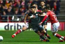 Sergio Aguero mencetak satu gol dalam laga leg kedua semi final EFL Cup di kandang Bristol City, Rabu dinihari. The Citizens lolos ke final.