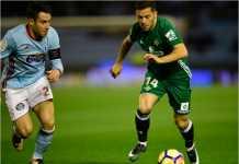 Terjadi tiga gol dalam 20 menit terakhir dari laga Liga Spanyol Celta Vigo vs Real Betis