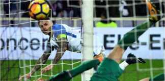 Mauro Icardi mencetak gol bagi Inter Milan dalam lanjutan Liga Italia di lapangan Fiorentina, Sabtu dinihari WIB