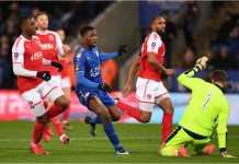 Kelechi Iheanacho mencetak gol pertama bagi Leicester City pada laga replay putaran ketiga Piala FA, Rabu dinihari, melawan Fleetwood Town