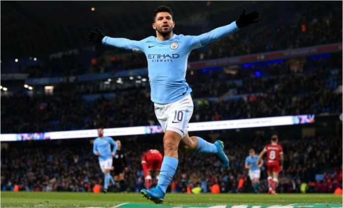 Striker Manchester City Sergio Aguero gemar mencetak gol mepet-mepet di akhir pertandingan, seperti yang dilakukannya Rabu dinihari ke gawang Bristol City pada leg pertama semi final EFL Cup
