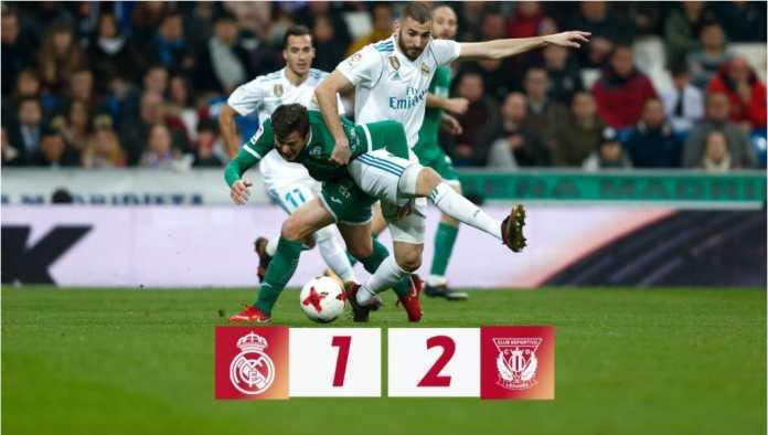 Real Madrid kalah 1-2 dari Leganes pada perempat final Copa del Rey leg kedua, Kamis dinihari. Skor agregat 2-2 tapi Leganes unggul dalam gol tandang.