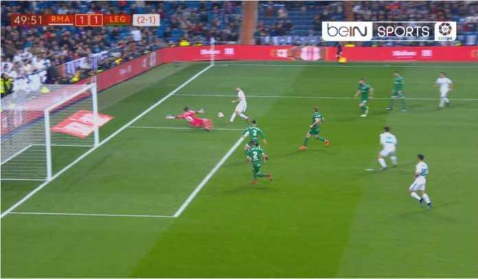 Karim Benzema mencetak gol bagi Real Madrid pada leg kedua laga perempat final Copa del Rey melawan Leganes di Santiago Bernabeu, Kamis dinihari