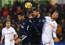 Fernando Llorente mencetak gol bagi Tottenham Hotspur dalam laga Liga Inggris di kandang Swansea City, Rabu dinihari WIB