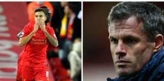 Jamie Carragher meminta Liverpool bijak belanja dana penjualan Philippe Coutinho, tak seperti tahun 2014 lalu saat the Reds menjual Luis Suarez ke Barcelona.