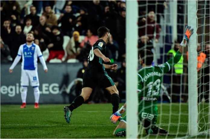 Gol dari Marco Asensio pada laga Leganes vs Real Madrid, leg pertama perempat final Copa del Rey, tak disangka-sangka sehingga kamera pun kalah cepat.