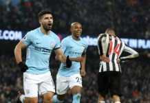 Sergio Aguero berhasil mencetak hattrick dalam laga lanjutan Liga Inggris antara Manchester City vs Newcastle United