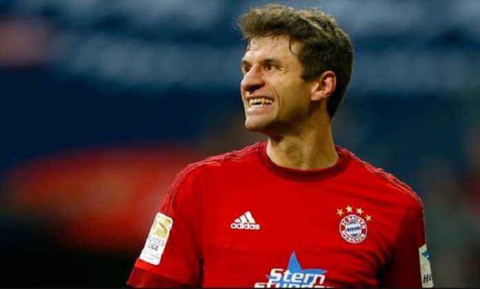 Thomas Muller cetak dua gol dan catatkan golnya yang ke-100 di Liga Jerman, Minggu (21/1) malam.