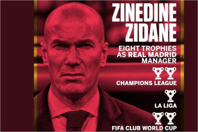 Zinedine Zidane tanggal 4 Januari 2016 dikukuhkan sebagai pelatih Real Madrid, dan sejak saat itu sudah memenangkan 8 trofi!