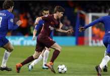Tak ada gol terjadi pada akhir babak pertama Chelsea vs Barcelona di Stamford Bridge, Rabu, pada leg pertama 16 besar Liga Champions.