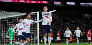 Manchester United kebobolan gol tercepat di Liga Premier musim ini, setelah pemain Tottenham Hotspur Christian Eriksen membobol gawang United di detik ke-11.