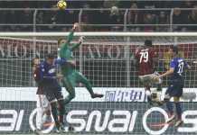 Laga leg pertama semi final Coppa Italia antara AC Milan vs Lazio sampai menit 79 babak kedua belum menghasilkan gol sama sekali.