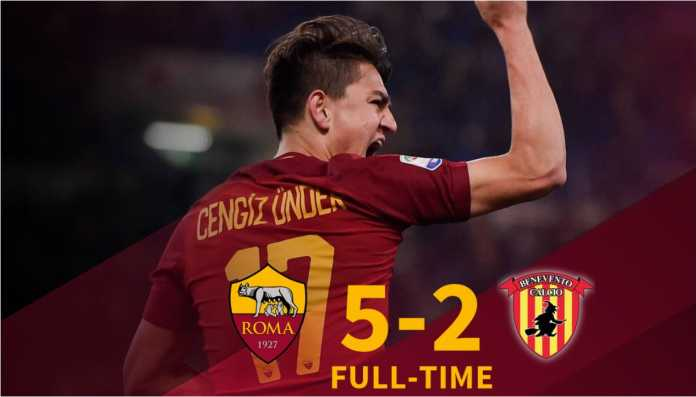 Hasil Liga Italia : AS Roma vs Benevento Skor Akhir 5-2