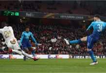Sead Kolasinac mencetak gol yang sangat penting bagi Arsenal dalam usaha mereka melewati hadangan Ostersunds, Jumat 23 Februari 2018, pada leg kedua babak 32 besar Liga Europa.