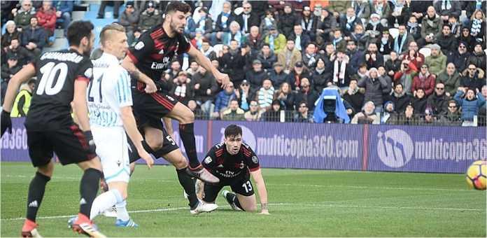 Patrick Cutrone mencetak gol dalam waktu 1 menit 41 detik, gol tercepat AC Milan musim ini, saat laga Liga Italia di kandang SPAL.