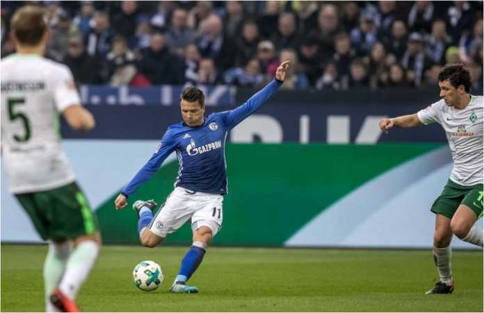 Yevhen Konoplyanka mencetak gol menit 24 bagi Schalke 04 saat menjamu Werder Bremen pada laga Liga Jerman, Sabtu malam.
