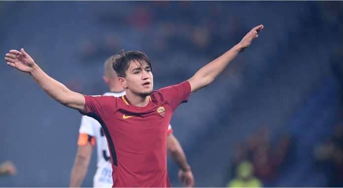 Cengiz Under menjadi pemain yang mencetak gol bagi AS Roma dalam laga Liga Italia pekan ke-25 di Udinese, Sabtu 17 Februari 2018.