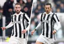 Juventus kehilangan dua striker andalannya, Gonzalo Higuain dan Federico Bernardeschi, yang kemungkinan juga tak bisa bermain di leg kedua babak 16 besar Liga Champions di kandang Tottenham Hotspur sekitar dua pekan mendatang.