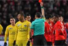 Kylian Mbappe yang terkena kartu merah dalam laga semi final Coupe de la Ligue melawan Rennes, dijatuhi dua laga skorsing tambahan.