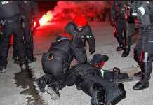 La Liga menyatakan perang terhadap suporter garis keras usai tewasnya seorang polisi dalam kerusuhan antara suporter Ath;etic Bilbao dan Spartak Moscow sebelum laga leg ke dua babak 32 besar Liga Europa, Jumat (23/2) dinihari tadi.