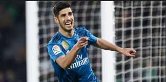 Marco Asensio cetak dua gol dan bawa Real Madrid bukukan gol yang ke-6000, saat menang 5-3 di kandang Real Betis, Senin (19/2).