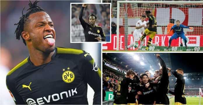 Striker Borussia Dortmund Michy Batshuayi mencetak dua gol ke gawang Koln, Sabtu. Dua gol itu adalah apa yang hilang dari lini depan Chelsea.