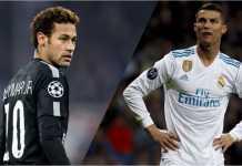 Dua bintang sepak bola, Neymar dan Cristiano Ronaldo, akan saling berhadapan pada babak 16 besar Liga Champions.
