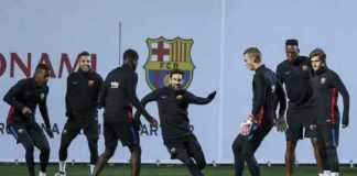 Jelang derby Catalan melawan Espanyol, Minggu (4/2) malam WIB, Ousmane Dembele sudah kembali berlatih bersama skuad utamaEl Barca hari ini.