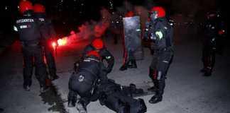 kerusuhan suporter sepak bola - Spartak Moscow vs Athletic Bilbao
