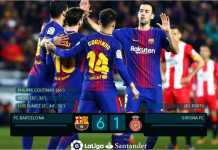 Barcelona menang besar 6-1 atas Girona, dan Lionel Messi serta Luis Suarez menambah pundi-pundi golnya.