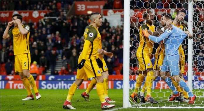 Hasil Liga Inggris : Stoke City vs Brighton Skor Akhir 1-1