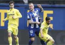 Rodrigo Ely mencetak gol pertama bagi Alaves saat mereka tandang ke Villarreal dalam lanjutan Liga Spanyol, Sabtu malam.