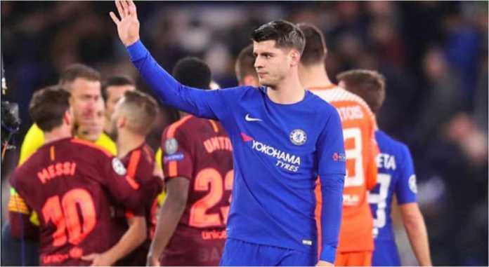 Alvaro Morata turun sebagai pemain cadangan pada laga leg pertama 16 besar Liga Champions antara Chelsea vs Barcelona