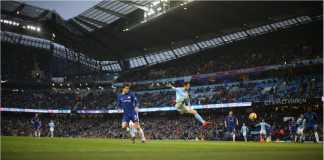 Pemain Portugal berusia 23 tahun, Bernardo Silva, mencetak gol bagi Manchester City pada laga Premier League, Senin dinihari 5 Maret 2018, ke gawang Chelsea