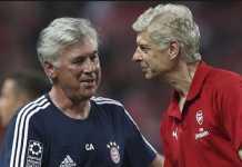 Eks pelatih Bayern Munchen, Carlo Ancelotti, dikabarkan tengah menunggu datangnya tawaran dari klub Liga Inggris, setelah ia diisukan akan gabung Arsenal atau Chelsea musim depan.