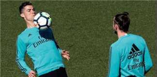 Cristiano Ronaldo terlihat dalam sesi latihan hari Jumat tapi ternyata tak ikut dibawa oleh Real Madrid dalam laga tandang Liga Spanyol ke markas Las Palmas, Sabtu
