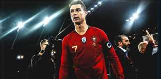 Cristiano Ronaldo dalam salah satu penampilan internasionalnya bersama Portugal, baru-baru ini