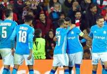 Dimitri Payet mencetak gol melalui titi penalti dalam laga Liga Europa antara Athletic Bilbao vs Marseille