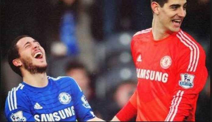 Eden Hazard dan Thibaut Courtois dijhawatirkan ikuti jejak Antonio Conte tinggalkan Chelsea.
