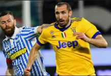 Giorgio Chiellini dicoret dari Timnas Italia, setelah alami cedera saat Juventus tandang ke markas SPAL, Minggu (18/3).