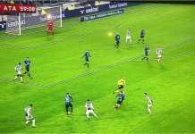 Sesaat setelah ini, Juventus berhasil unggul 1-0 melalui tendangan penalti Miralem Pjanic pada semi final Coppa Italia Juventus vs Atalanta leg kedua, Kamis.