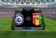 Arema FC menjamu Mitra Kukar di laga perdana Liga 1 Indonesia/2018 di Stadion Kanjuruhan, Malang, Sabtu (24/3).